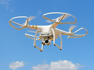 Drone quadrocopter with high resolution digital camera. New tool